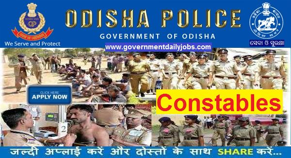 Odisha Police Recruitment 2017 for 521 Constable Posts Apply Online