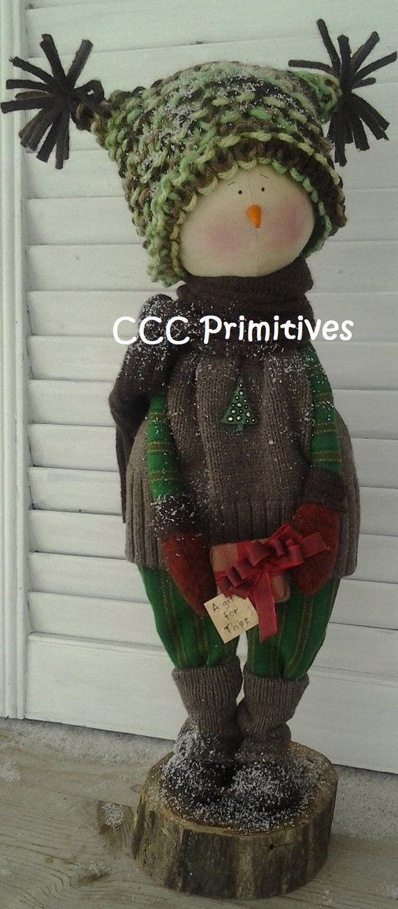 love this hat, too....A Gift for Thee Primitive Snowman  Handmade by CCCPrimitives, $58.00