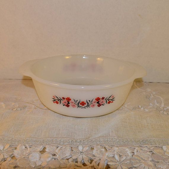 Fire King Primrose Casserole Dish Vintage Anchor Hocking 2