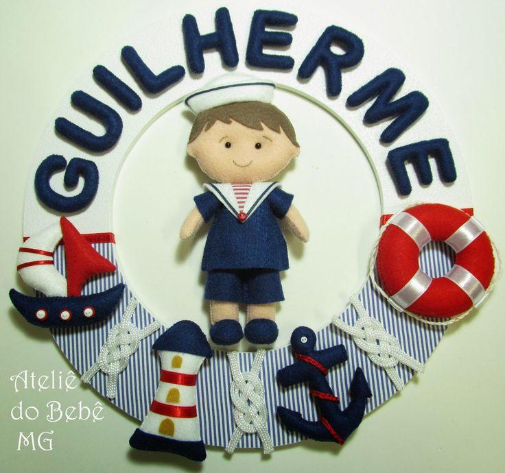 Ateliê+do+Bebê+MG:+Guirlanda+Menino+Marinheiro+(+Guilherme+)