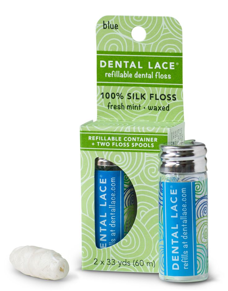 Biodegradable Dental Floss in Refillable Glass Dispenser is the perfect eco-friendly, zero waste alternative to conventional dental floss!
