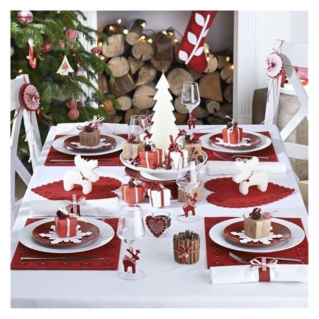 Reposting @for_me_lab: Une table qui donne envie de partager des bons moments en famille ! #christmas #tendance2017 ---------------------- #artdelatable #christmas #table #familytime #formelab #trend #yummy #party #gift #red #white #christmastree