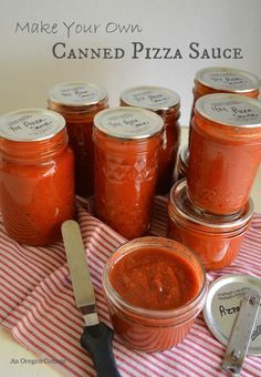 Make Your Own Canned Pizza Sauce! An Oregon Cottage