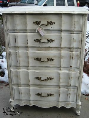 Victorias Vintage Designs Tall Shabby Chic French