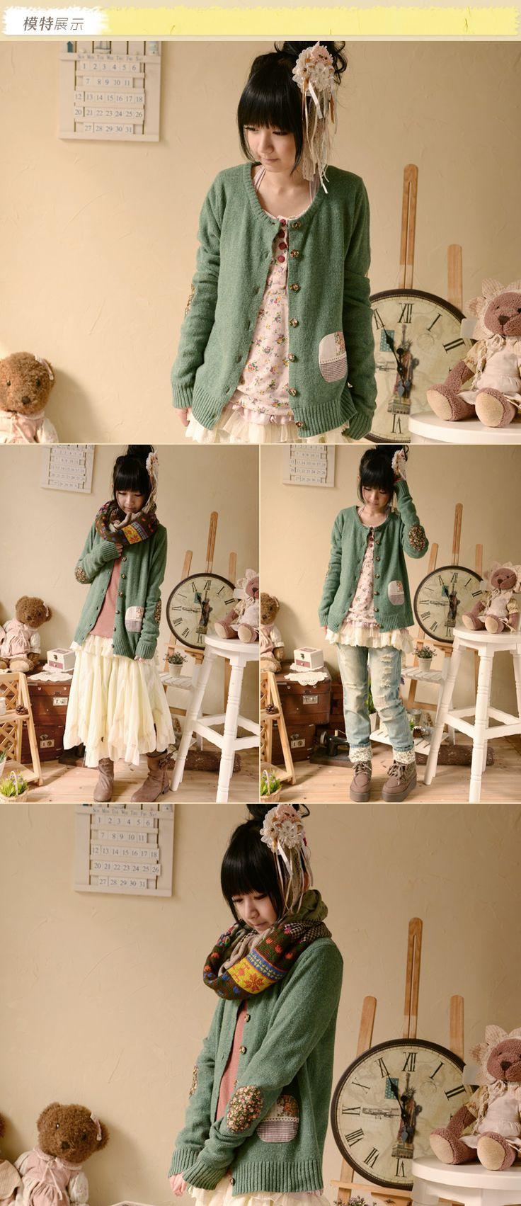 Мори девушка цветочный принт зеленый свитер кардиган бренди мелвилл женщин свободного покроя основной лучших свитер опрятный стиль лолита cawaii одеждакупить в магазине Joey BoutiqueнаAliExpress