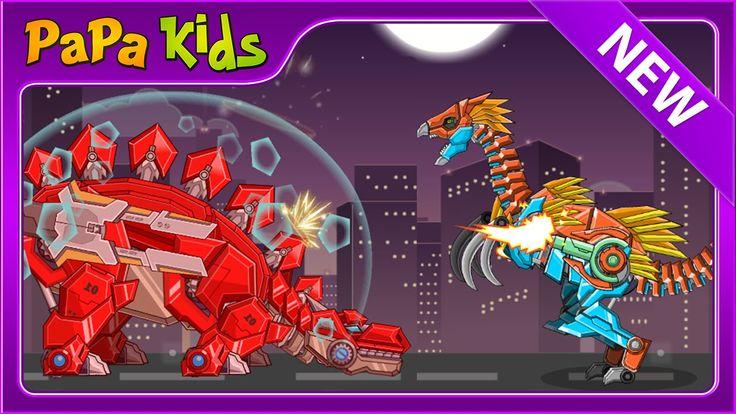 TOY WAR ROBOT THERIZINOSAURUS - Dino Robot Full Game - Papa Kids