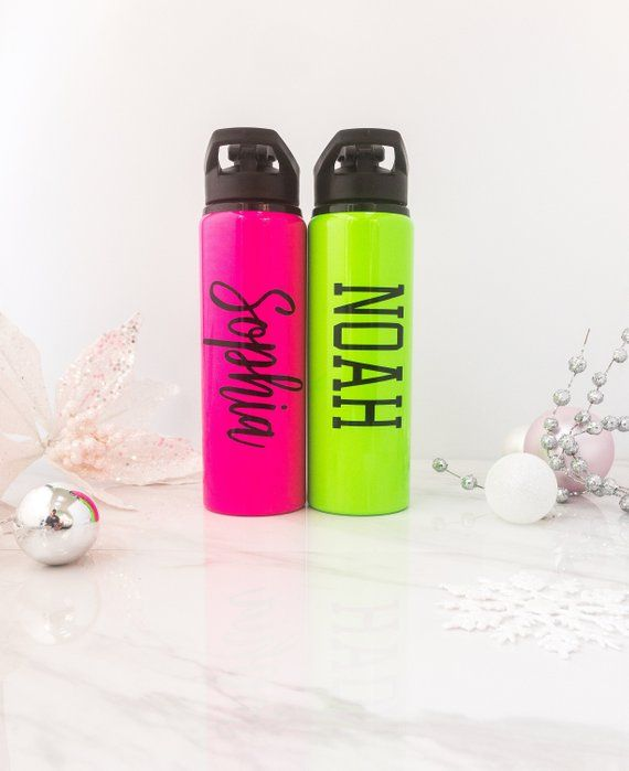 Personalised Engraved Water Bottle Vacuum Insulated Gift for Xmas Birthday Child