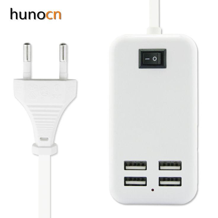 UE/5V3A EE.UU. plug 4 Puertos USB Cargador de Pared Adaptador de Alimentación de CA 1.5 M de largo cable de ENCENDIDO/APAGADO interruptor de inicio viaje carregador
