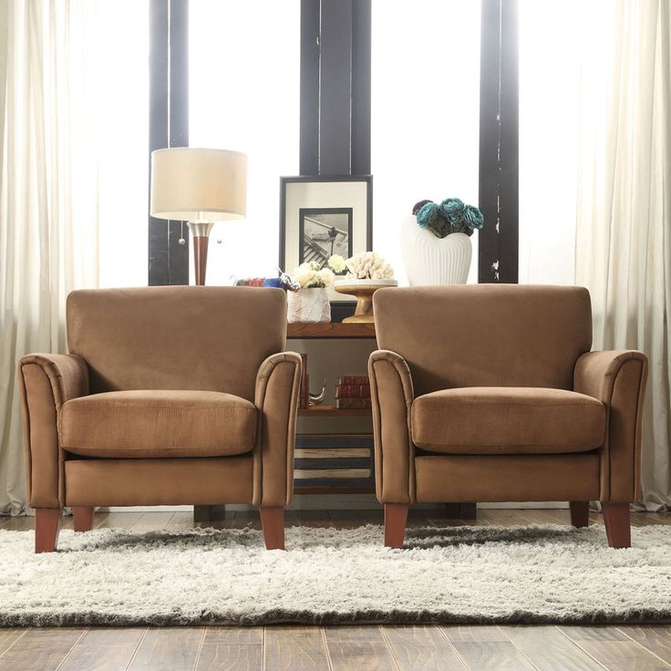 good quality living room furniture%0A accent chairs  TRIBECCA HOME Uptown Mocha Microfiber Modern Arm Accent  chair  Overstock    Shopping  Great Deals on Tribecca Home Living Room  Chairs