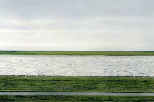 """©Andreas Gursky - """"Rhein II"""", 1999 (detail) Most expensive photograph"""