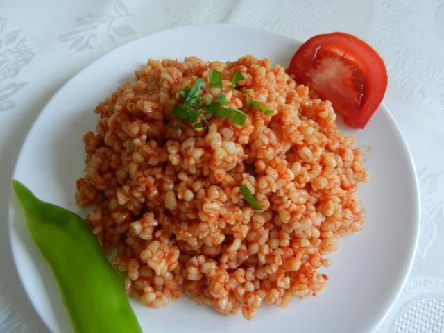 Bulgur and Vegetable Pilaf is a classic Turkish side dish that goes well with grilled meats and poultry, or just about anywhere you might eat rice.