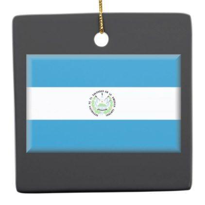 El Salvador Flag Ceramic Ornament - home gifts ideas decor special unique custom individual customized individualized