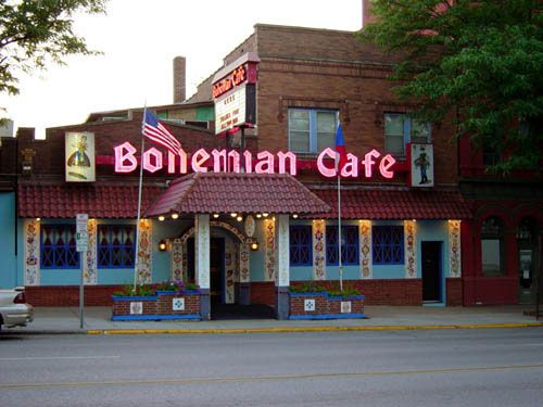 "The Bohemian Cafe, Omaha, NE svitchkova! ""Dumplings  Kraut today...at the Bohemian Cafe..."""