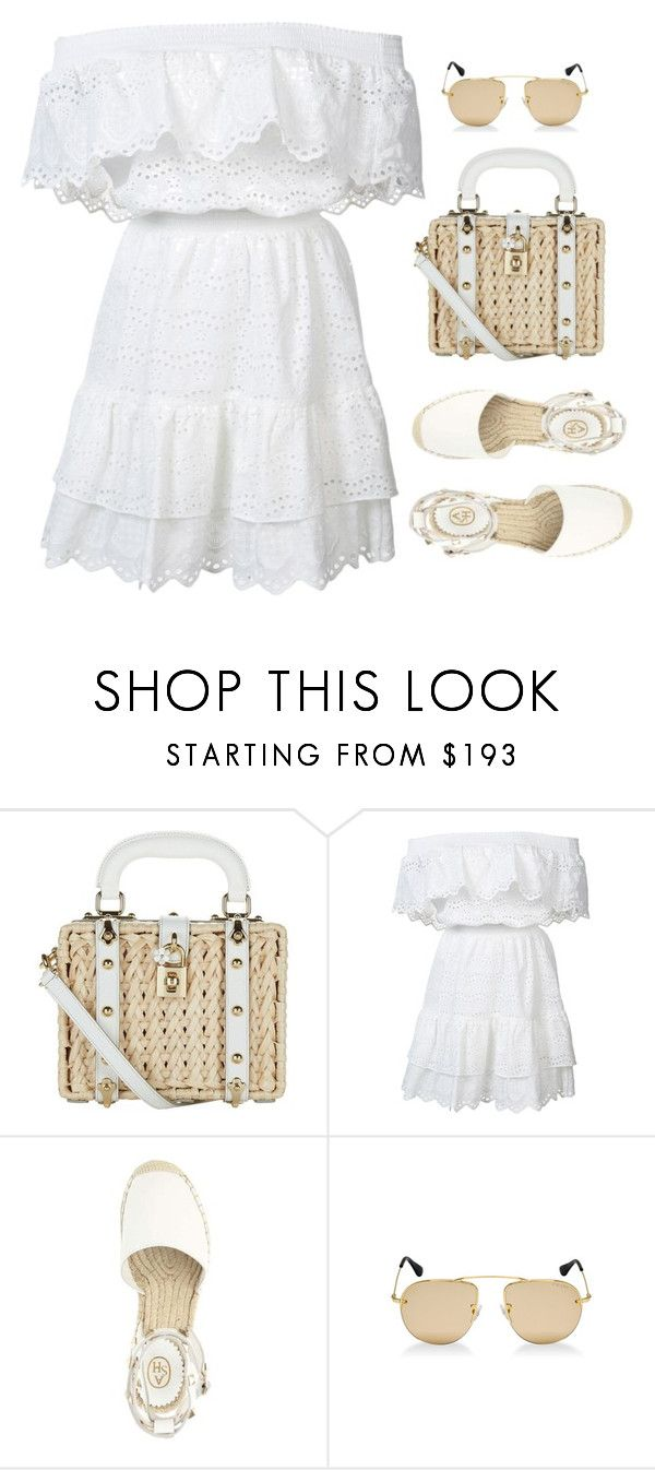 """""""Untitled #450"""" by inspirene ❤ liked on Polyvore featuring Dolce&Gabbana, LoveShackFancy and Prada"""