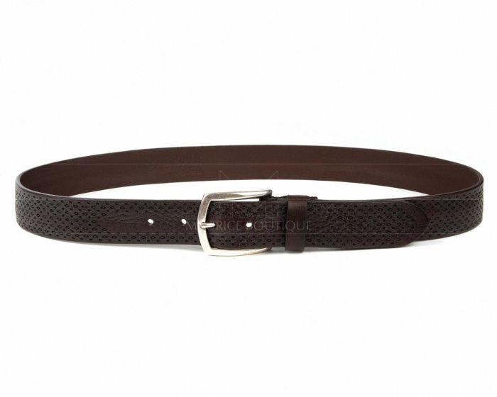Cinturones hombre de piel marrón Leyva - Parkour