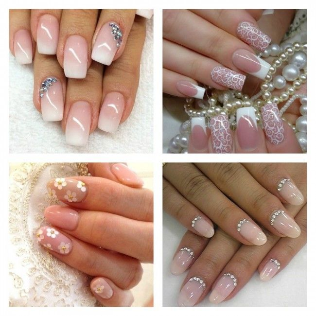 Romantiche Bridal Nail Art da sposa