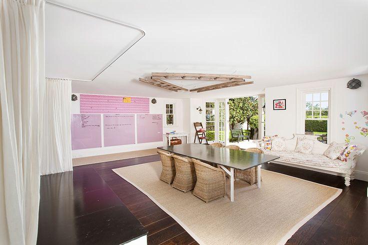 A Hamptons Dream Home - inspired by East Coast American architecture and design, interiors by Lynda Kerry Interior Design, Bennison Fabrics Nicolazzi Tapware, Stroheim Fabrics