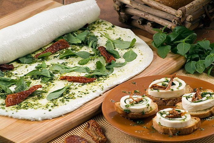 Our #Mozzarella sheets are great to roll with cured meats and herbs!