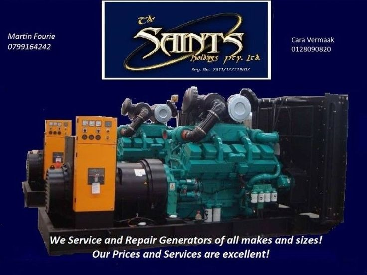 We service and repair all Generators of all makes and sizes. We offer free quotations and competitive rates with fast, professional service. We offer adhoc/ once off service and Our Maintenance contracts can be customized to your needs if you need to commit to a long term agreement. Small generators can be serviced and repaired at our premises with a 24hour turn around.We also do Lawnmowers and construction equipment. Call us today or google us on The Saints Holdings Pty Ltd. We are also on…