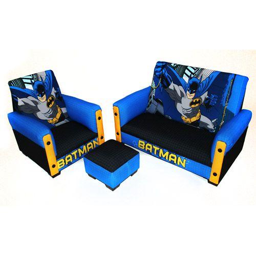 Batman Toddler Sofa, Chair and Ottoman Set