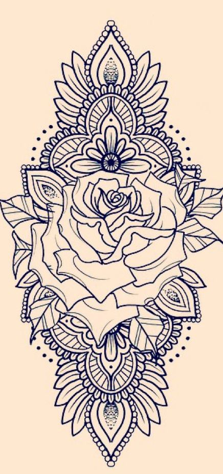 mandala rose tattoo - Cerca con Google
