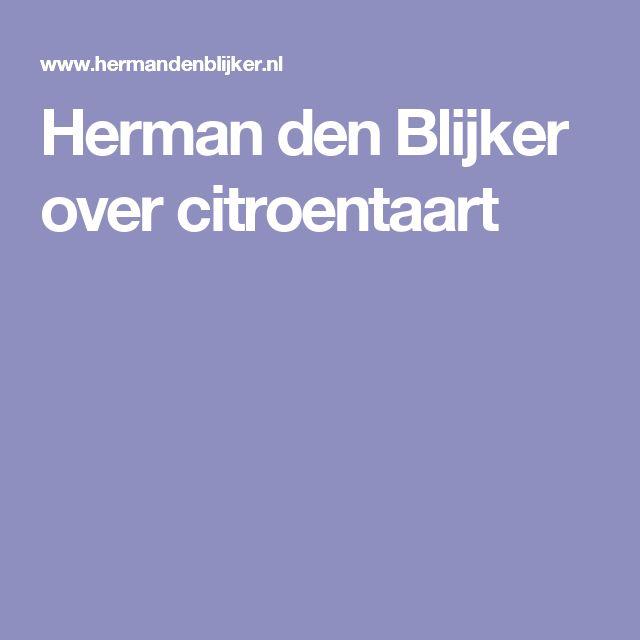 Herman den Blijker over citroentaart