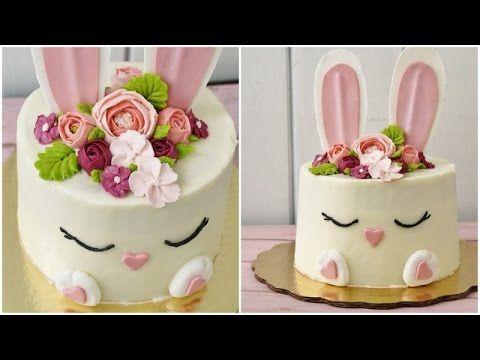 Pastel de conejito de Pascua - YouTube