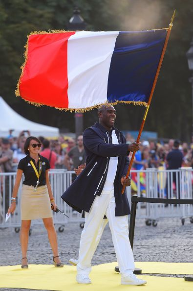 #TDF2016 / Stage 21 Podium / Teddy RINER French Flag bearer Rio 2016 Olympic Games / Chantilly Paris ChampsElysees / TDF /