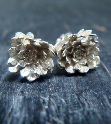 Rosette Silver Earrings