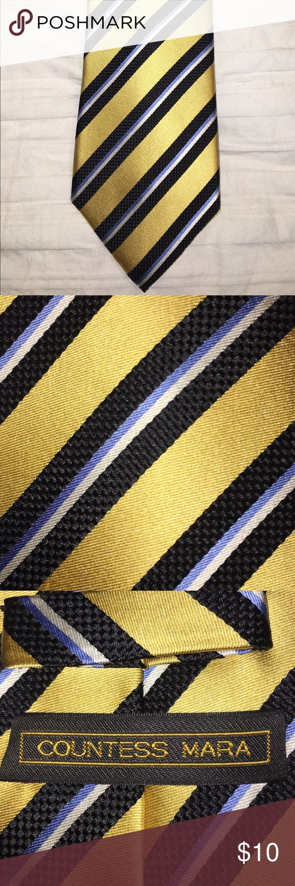 Men's striped tie Men's striped tie. Yellow and pale blue stripes make this a great addition to your spring wardrobe! Accessories Ties