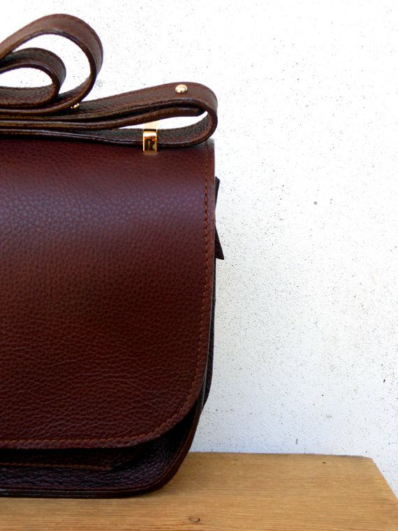 SOFFIETTO IN BROWN borsa in pelle fatta a mano di DuPelli