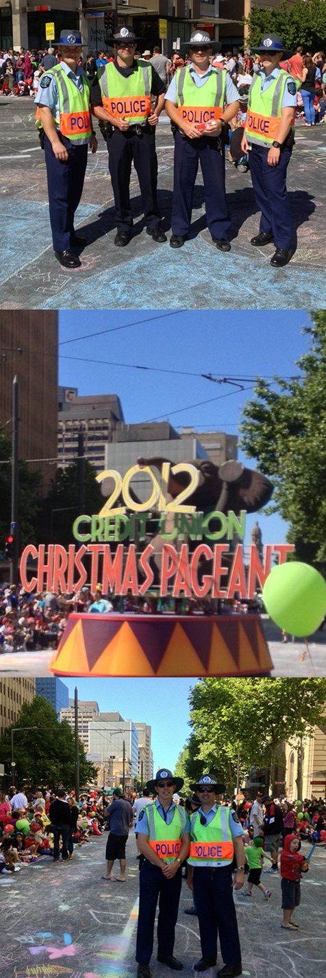 Christmas Pageant 2012. #southaustralia #adelaide #police #christmas #pageant