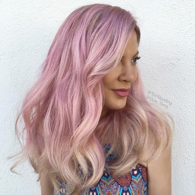 Bye, bye blond and hello rose! Whether you know Tori Spelling from Beverly Hills, 90210 or her fa...