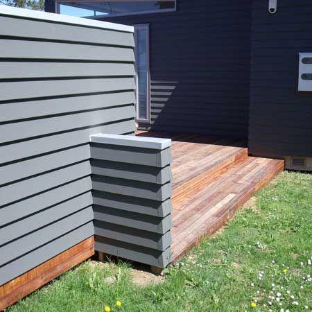 Stylish weatherboard fence