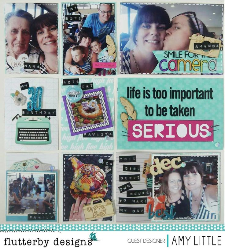 Project Life for Birthdays my Guest Design Spot for Flutterby Designs