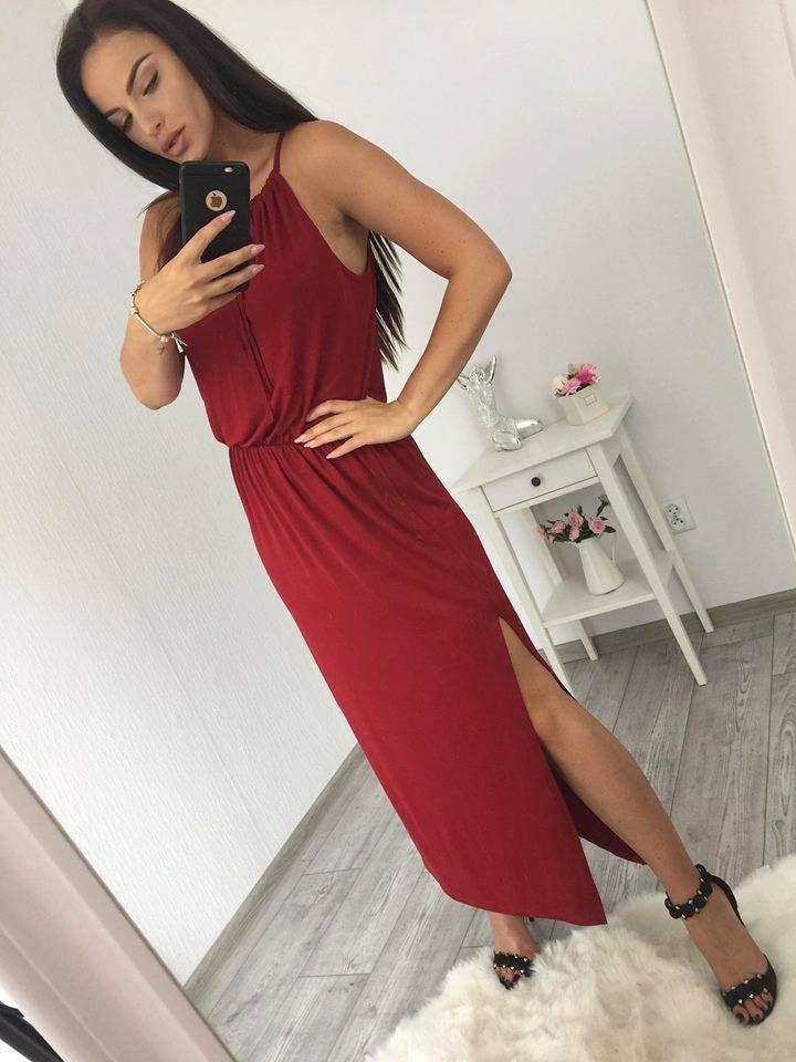 90b608cae3f4 Krásne šaty v boho štýle gaštánovej farby vo veľkosti univerzálnej