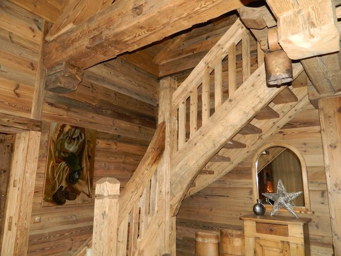79 best timber frame joints images on pinterest timber for Interieur chalet
