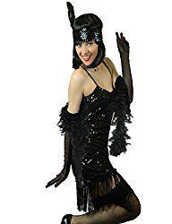 Flapper Mode & Tanz, Charleston Flapper, Feder Boa Kostüm