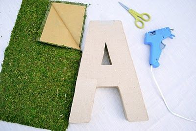 What a fun spring craft!  diy moss covered letter from @ordyandjoon, would make a great gift