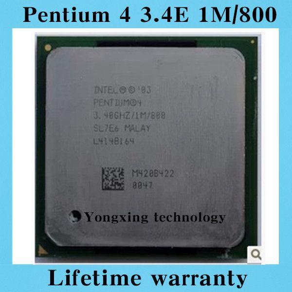 Pentium 4 3.4E 1M 800 3.4GHz P4 3.4 desktop processors 3.40 PC CPU Socket 478 pin
