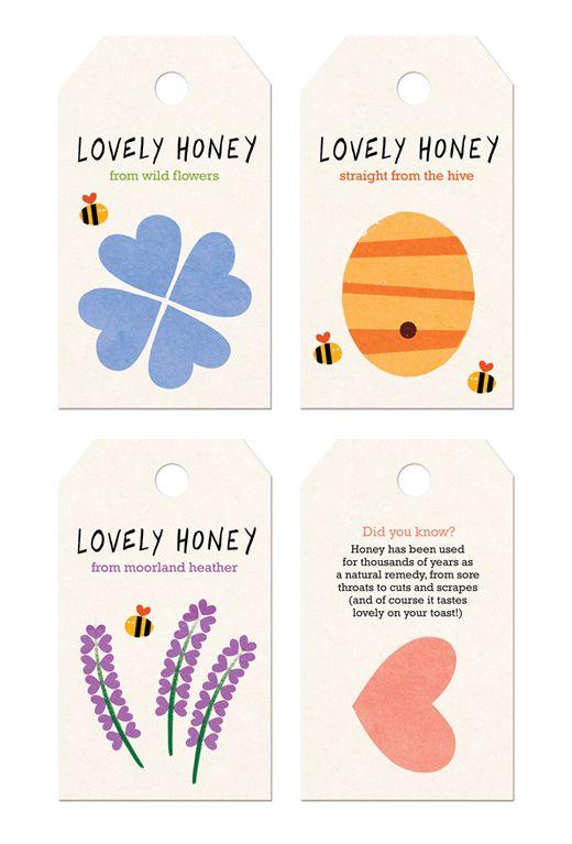 Lovely Honey packaging labels  jamienashillustration.blogspot.co.uk
