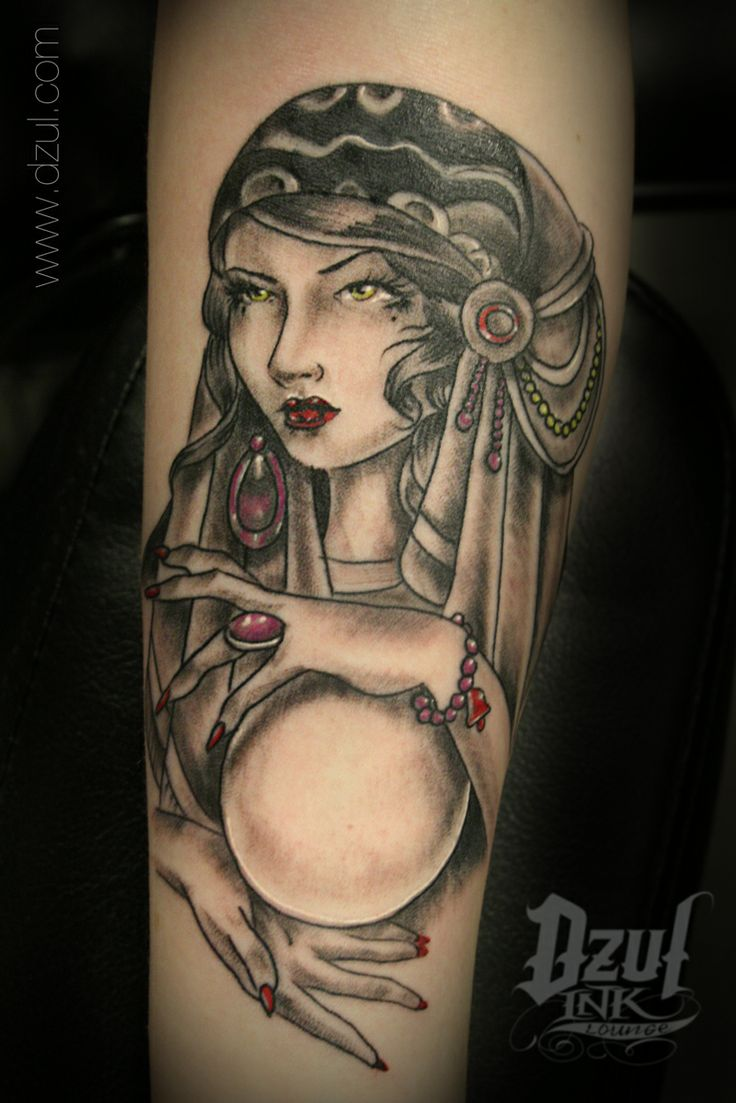 Gypsy woman tattoo Crystal