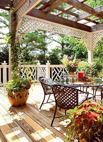 deck railing design and pergola