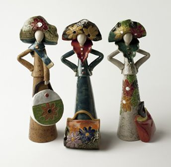 Ladies With Bags by Ceramic Art and Sculpture