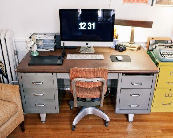 retro office desks. IDENTICAL TO MY Industrial Shaw Walker Desk! Retro Office Desks R