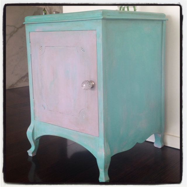 17 best images about painted beautiful furniture on for Mint green furniture paint