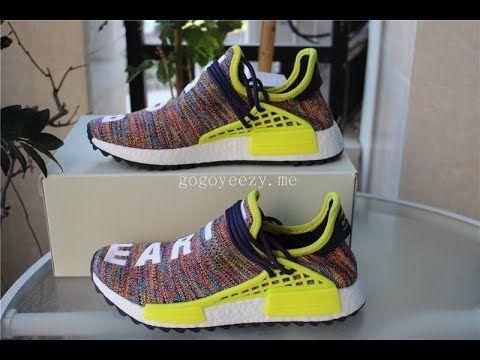 "3ef33a488de0f Pharrell x Adidas NMD Human Race ""Rainbow†On Feet Review ."