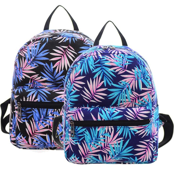 Cheap backpack korean, Buy Quality gift telescope directly from China gift tip Suppliers: Pls tarama bu qr kod daha indirim cep!       Best Deal New Fashion Women Acacia Leaves Printing Mini Canvas Sh