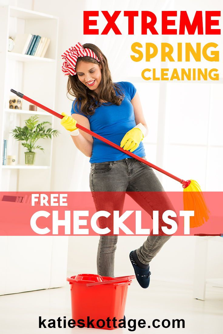 Extreme Spring Cleaning Checklist (Free Printable