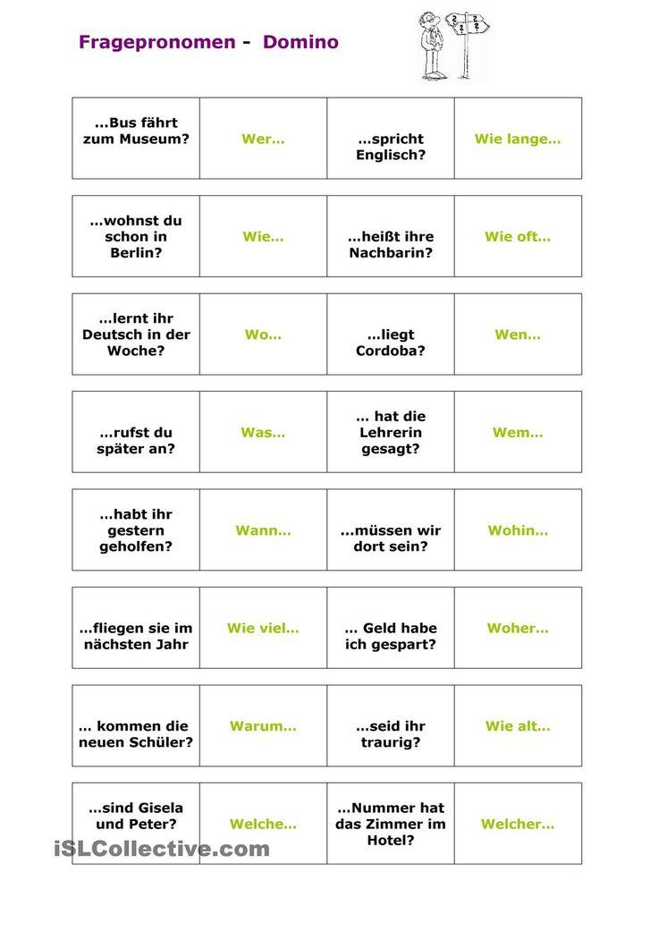 43 best W - Fragen images on Pinterest | Deutsch lernen, Sprachen ...